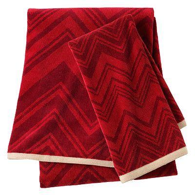 Apt. 9 Vermillion Chevron Bath Towels