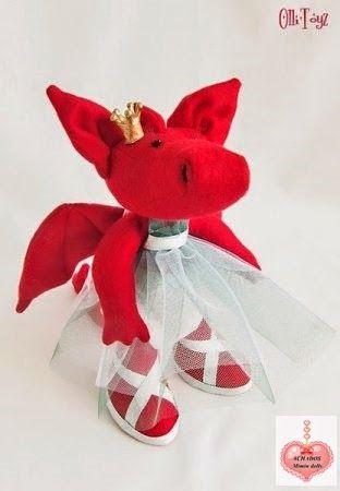Mimin toys: dragão fêmea | Coole Schnittmuster | Pinterest ...