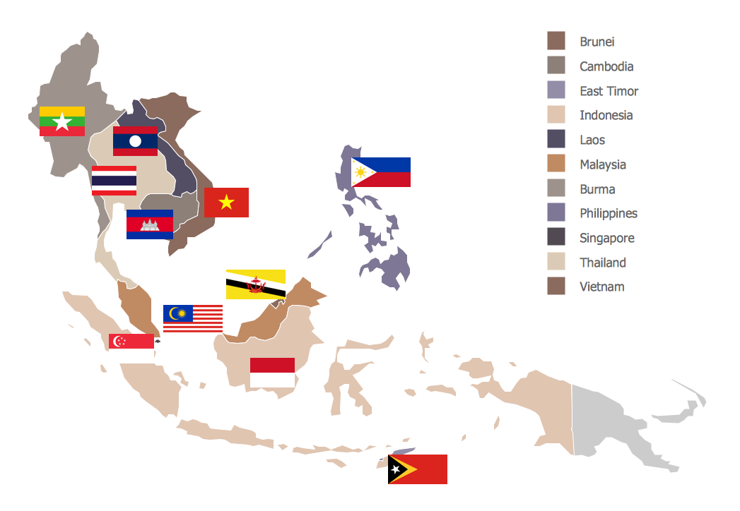 Southeast Asia Map Maps — Continent Maps