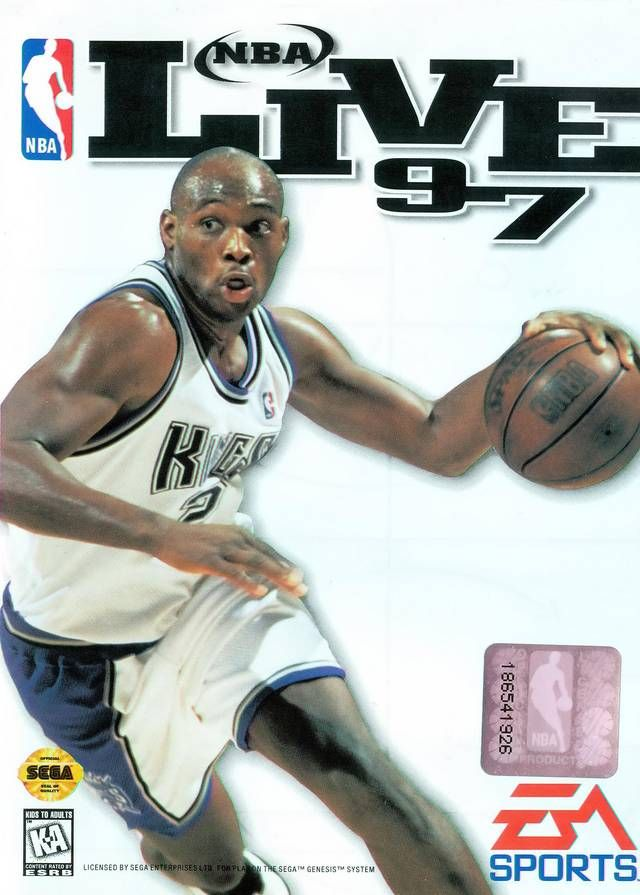 ad975de9cae NBA Live 97  Sega Gensis  - On the cover - Mitch Richmond - Sacramento Kings