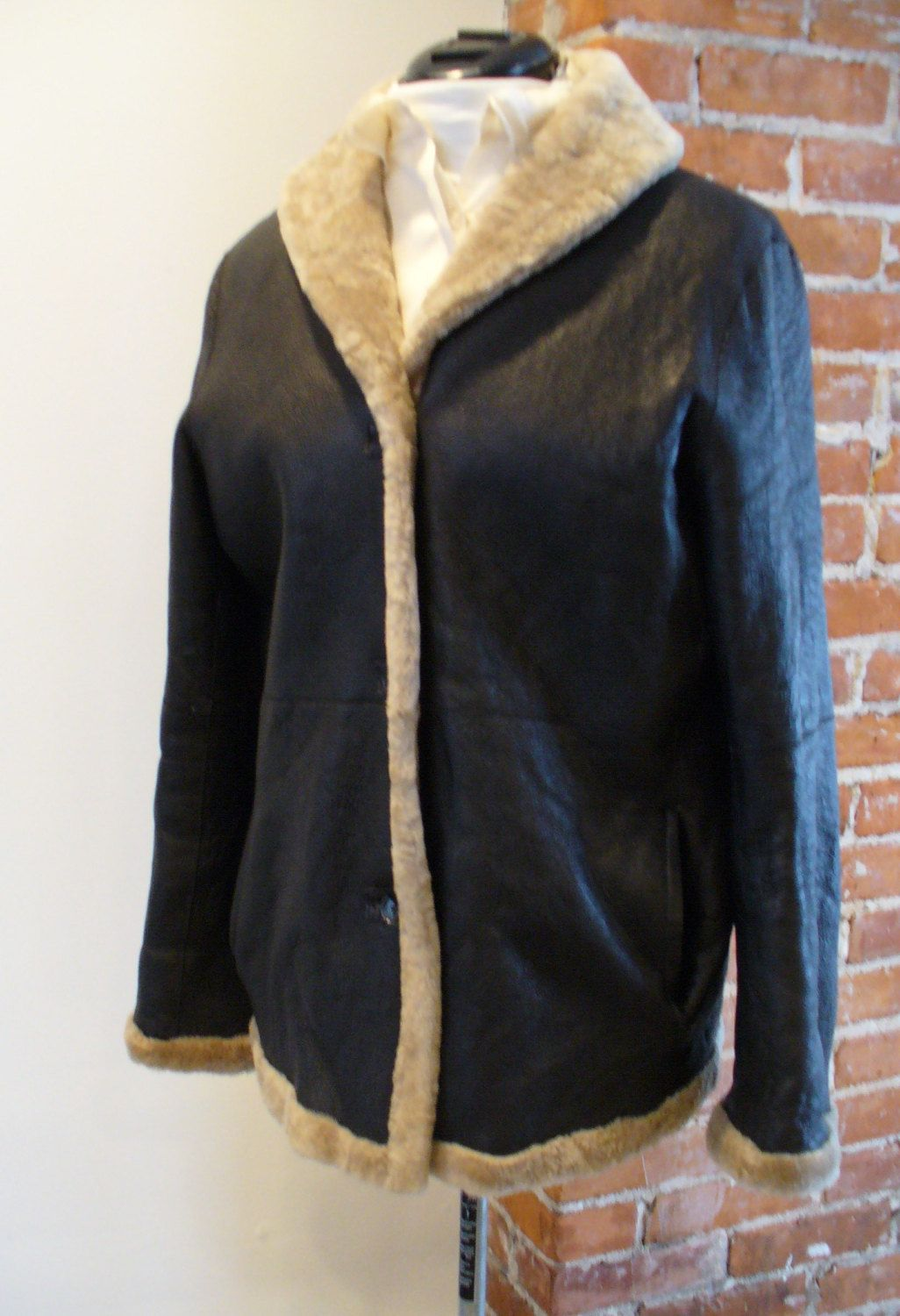 Vintage Made in Argentina Sheepskin Jacket Size S by
