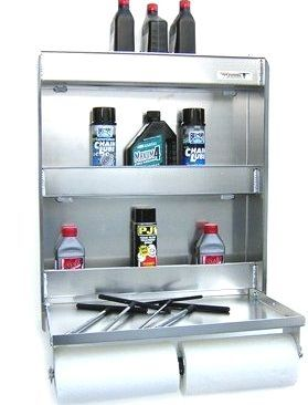 Pit Posse 445 Senior Work Station Aluminum Cabinet Tray Storage Shelf Trailer Shop Garage Accessory 2015 Amazon Top Rated Systems