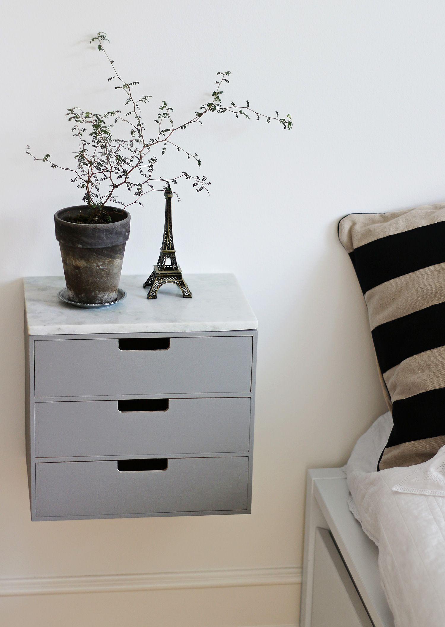 væghængt natbord natbord sengebord sidebord væghængt@2x | Indretning | Pinterest  væghængt natbord