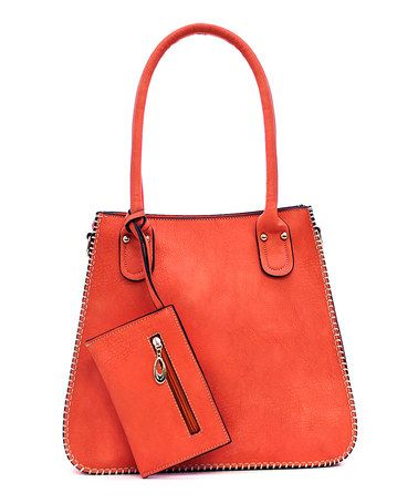 Look what I found on #zulily! Coral Candice Tote & Wristlet #zulilyfinds