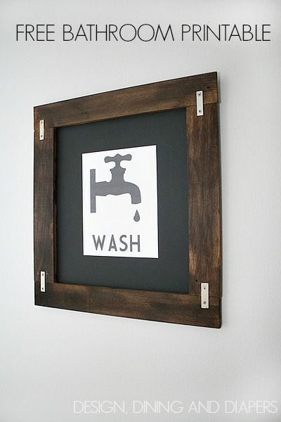 Free Printable Bathroom Art Cover The Walls Pinterest Bathroom Classy Free Printable Bathroom Art