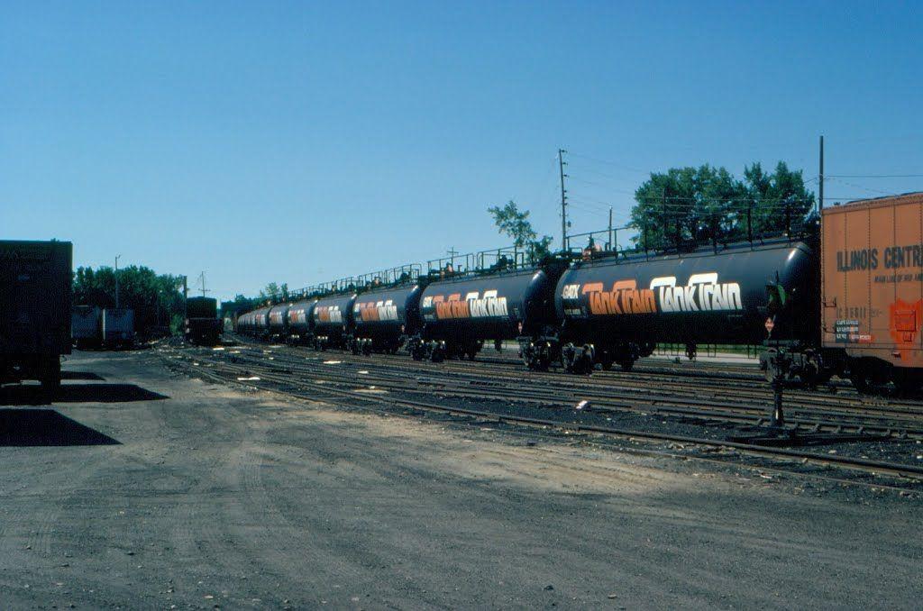 "General America Transportation Corporation ""Tank Train"" at Burlington, VT"