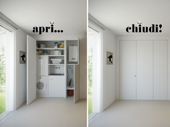 The bespoke wardrobe that hides a laundry lavander a for Mobili per arredare casa