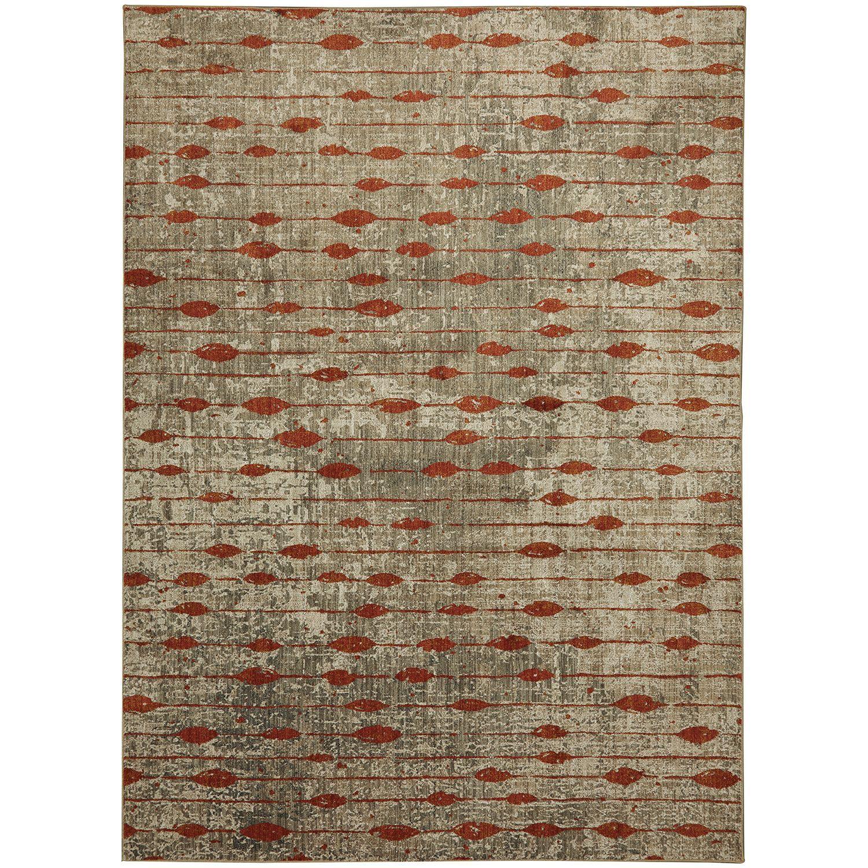 American Rug Craftsmen Metropolitan Gianni Ginger Area Rug (5'3x7'10) (Ginger), Grey, Size 5'3 x 7'10 (Polyester, Geometric)