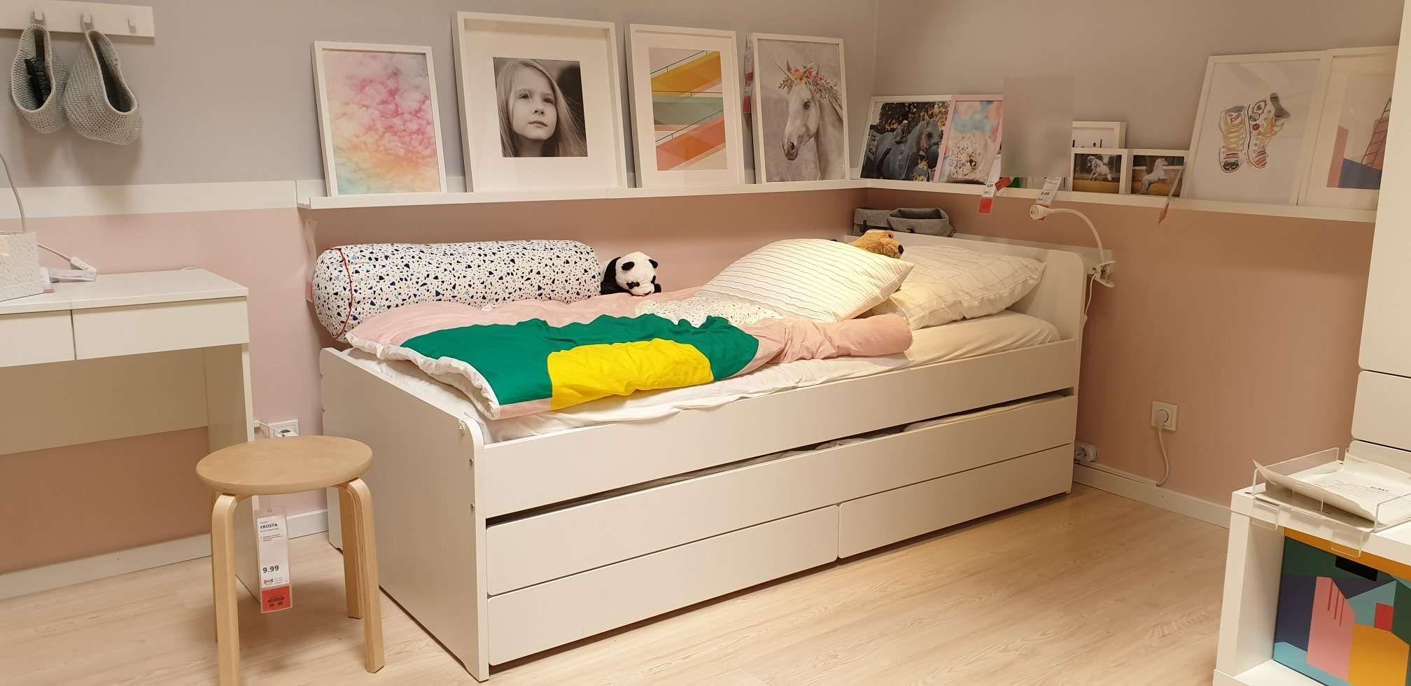 Slakt Bettgestell Unterbett Aufbewahrung Weiss Ikea Deutschland Ikea Jugendbett Kinderbett Junge Ikea Kinder