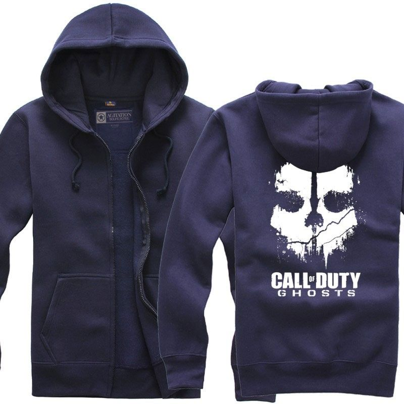 Call Of Duty Ghosts Mask Logo Zip Up Hoodie Call Of Duty Ghosts