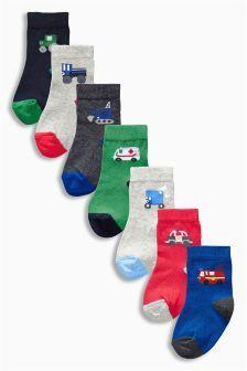 b9d4e2de11985 Seven Pack Multi Transport Socks (Younger Boys) Boys Socks, Uk Online, Next