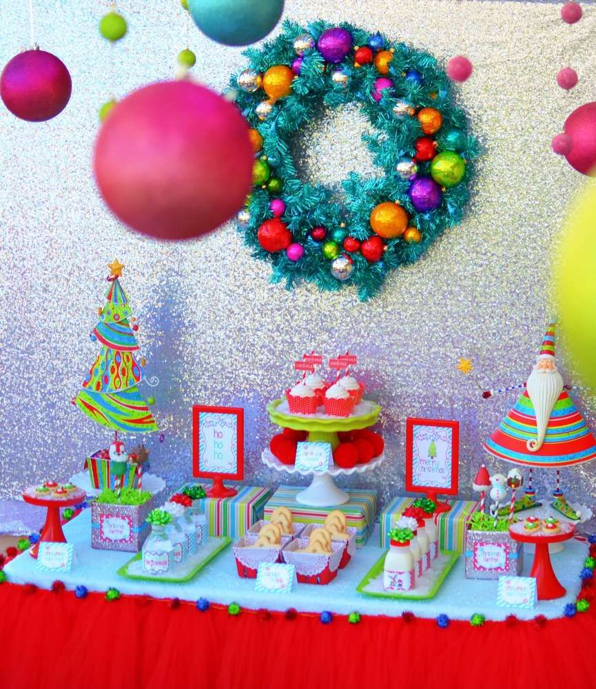 Christmasholiday party ideas cookie decorating dessert table and