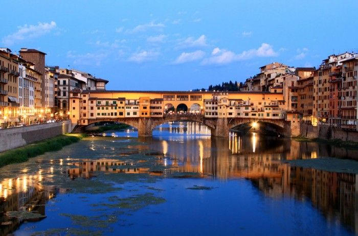 6 Things You Didn't Know about The Ponte Vecchio: Ponte Vecchio in the late summer evening. Photo by Flickr user  Chuyan Yu