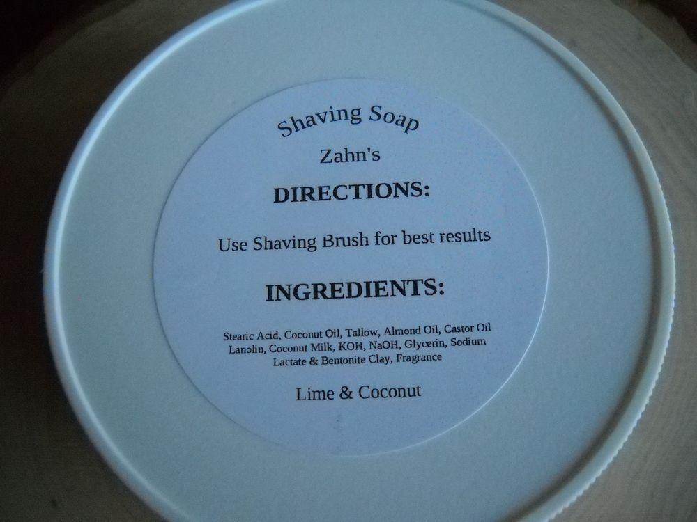 Homemade Soft Coconut Milk Shaving Soap W/ Beef Tallow & Lanolin 5++ Oz Lime…