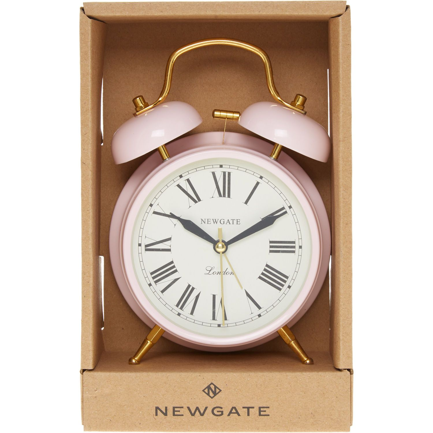 Pink Gold Tone Covent Garden Alarm Clock Clocks Home