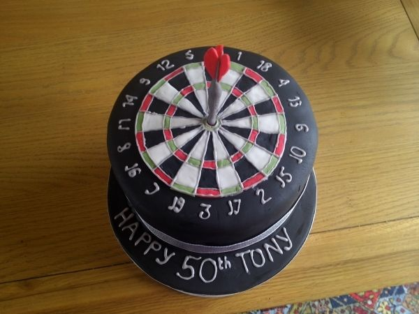 dart board cake 50'th birthday