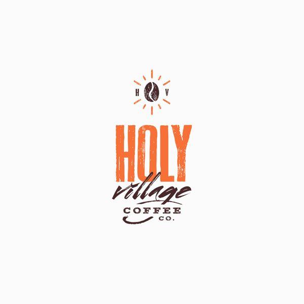 holy village coffee co logo design on logo design pinterest