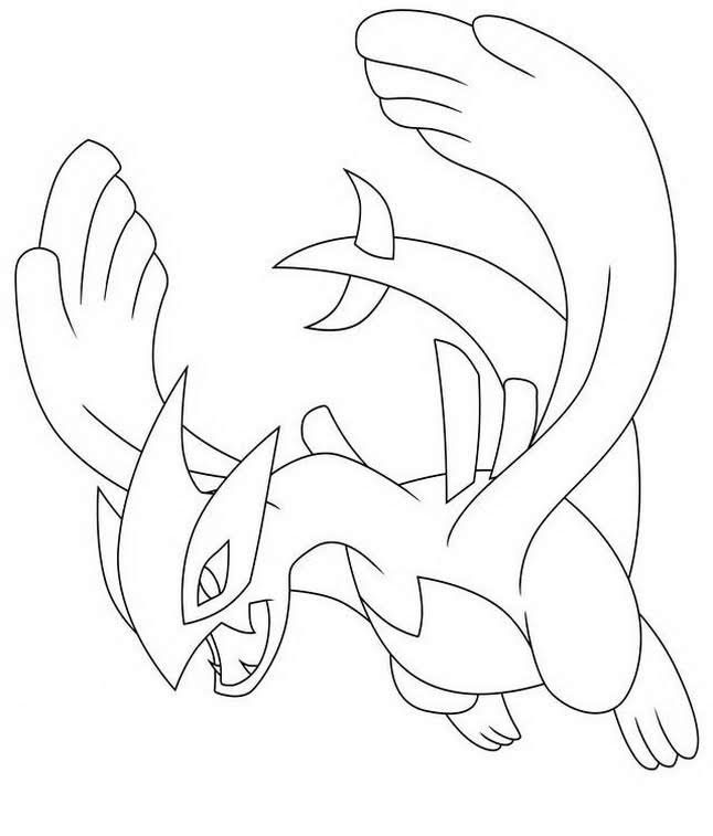 How To Draw Lugia Pokemon Coloring Pages Pokemon Coloring