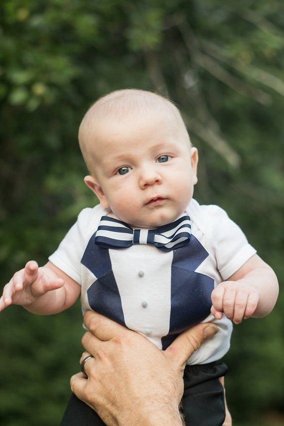 c0e12a2b5 Baby boy Tuxedo - Photography prop - Formal Wear baby - take home outfit -  wedding suit - Navy Wedd