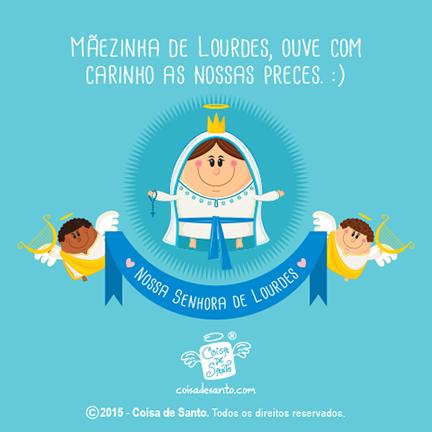 1102 Dia De Nossa Senhora De Lourdes Coisadesanto Fé