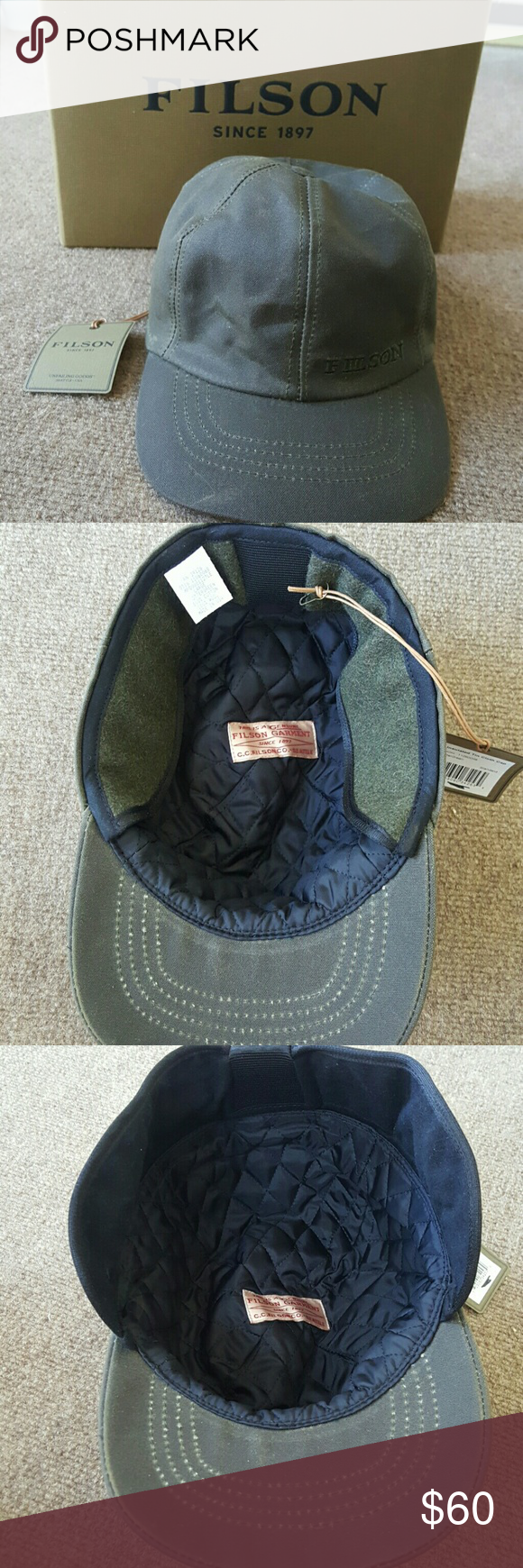 447c03cf46a0 NWT insulated tin cloth cap Brand new Filson hat with box and tags. This is