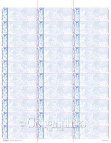 Geographics Winter Wonderland Printable Mailing Labels, 85 - printable address labels free