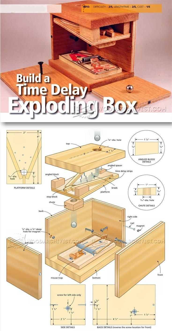 Diy Exploding Box Woodworking Plans And Projects Woodarchivist Com Woodworking Projects Plans Diy Exploding Box Woodworking Plans