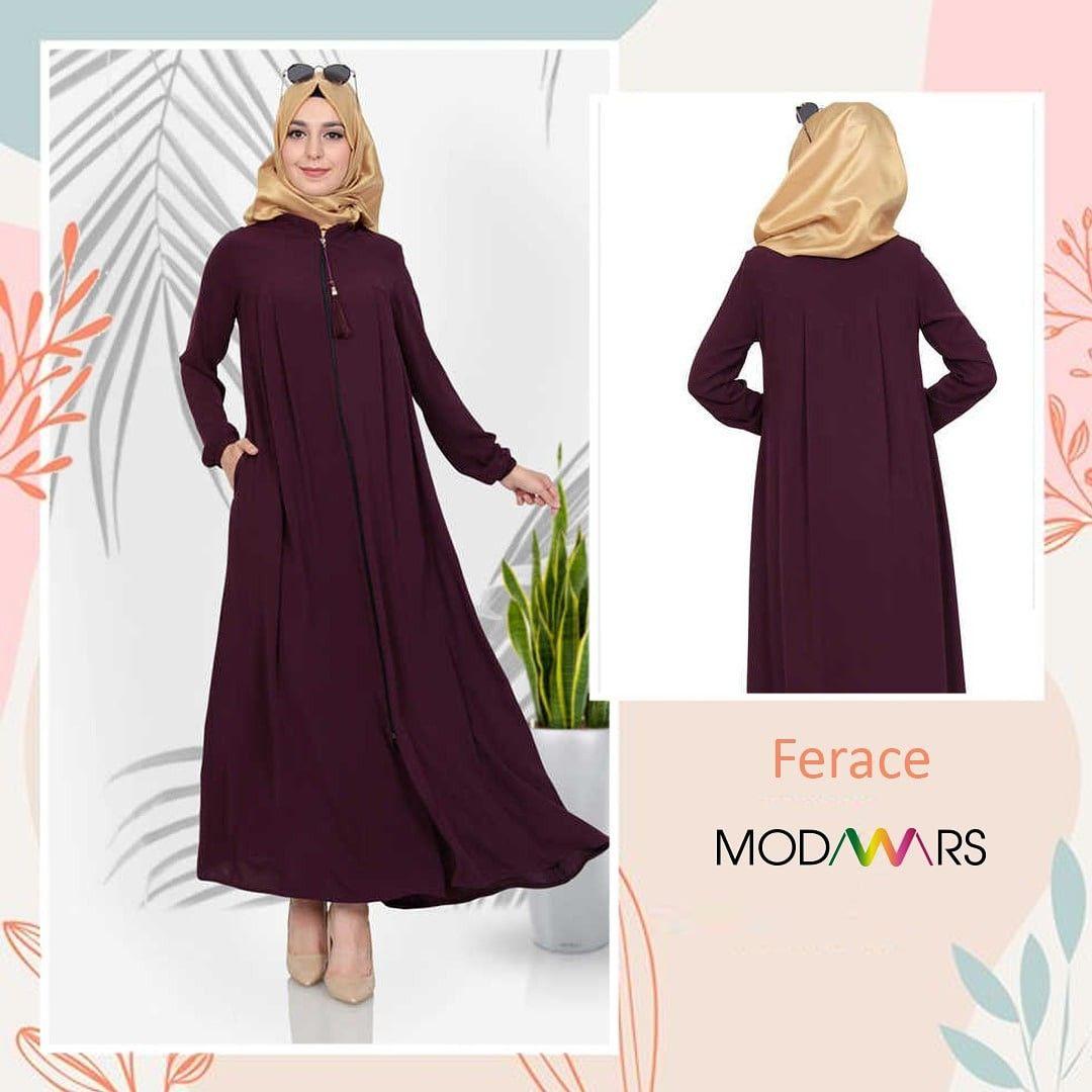 Ferace, 2020 Moda stilleri, Mor, Fermuar