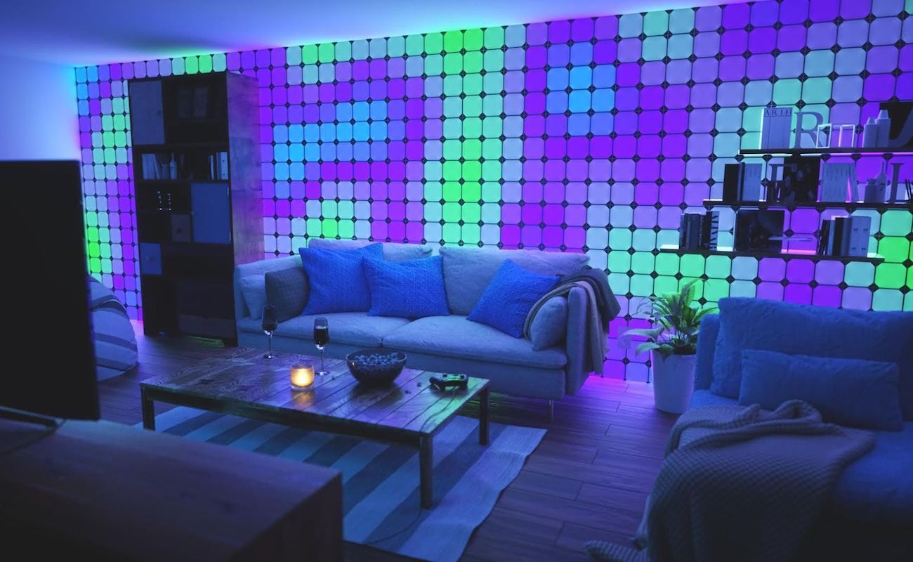 Enjoy A Light Show In Your Own Home With The Nanoleaf Square Color