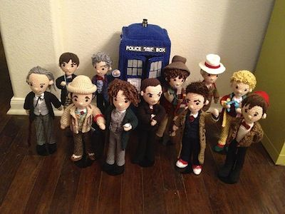 Doctor Who amigarumi - All the Doctors by Allison Hoffman on Ravelry