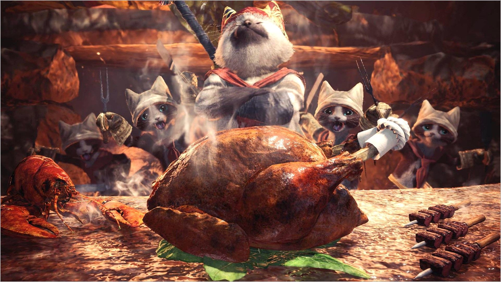 Monster Hunter World 4k Wallpaper Palico In 2020 Monster Hunter Monster Hunter World Monster Hunter Series