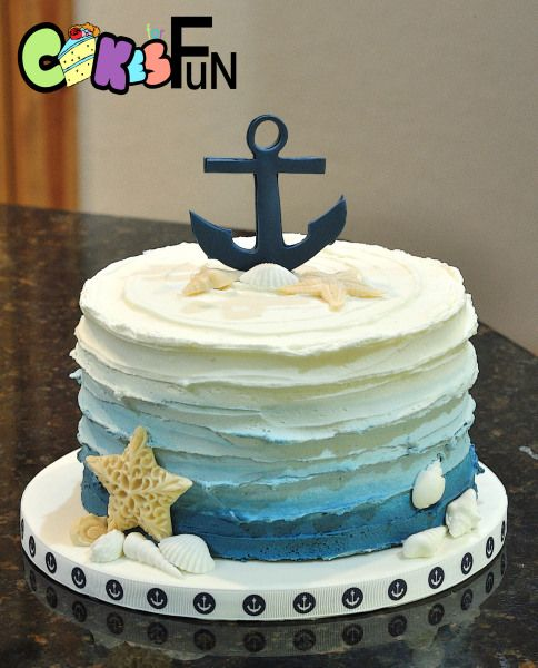 Nautical themed baby shower cake Future House Pinterest