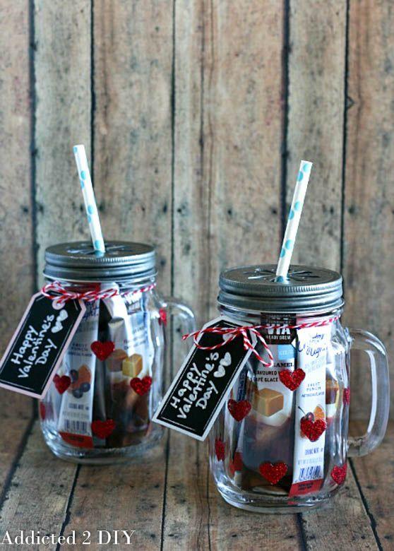 Glittered Heart Mason Jar Tumblers Holidays Valentine S