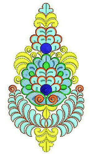 Pallu Corner Patch Applique Embroidery Design