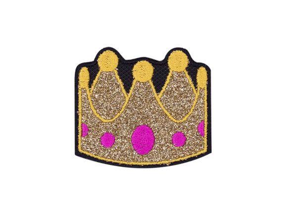Crown Tiara Emoji Embroidered Iron On Patch Free Shipping Emoji Patch Patches Emoji