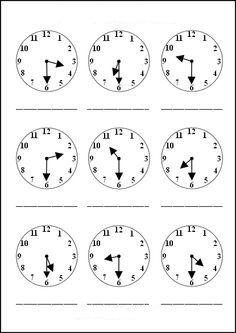 Saat Etkinlikleri Saatler 3 Sinif Matematik Matematik
