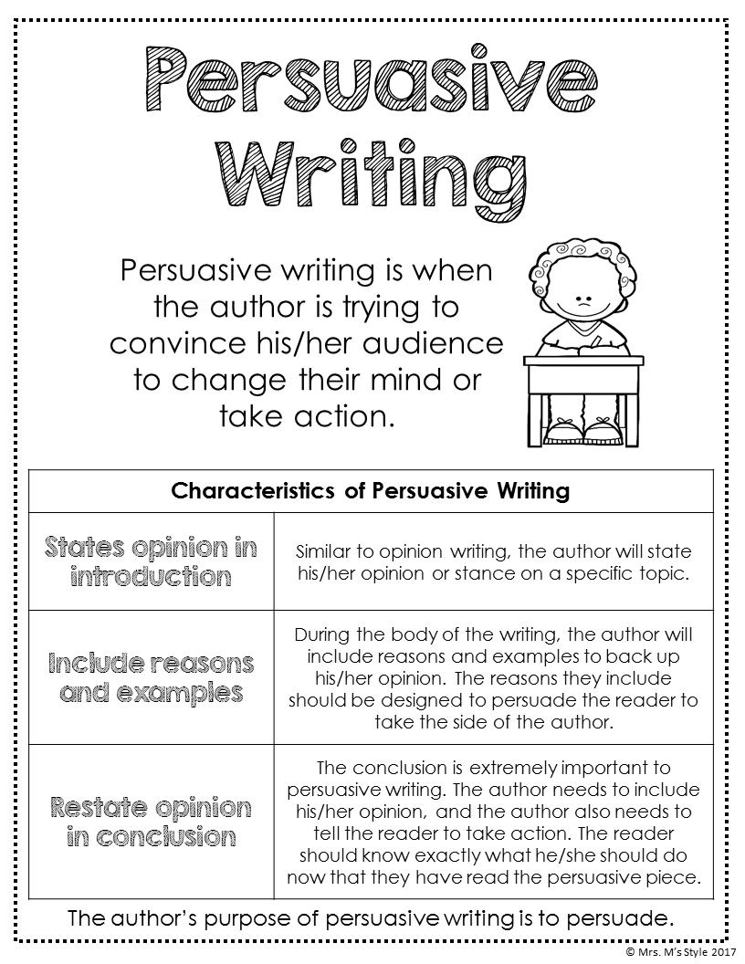 Writing Center Posters Persuasive Writing Persuasive Writing Anchor Chart Writing Anchor Charts