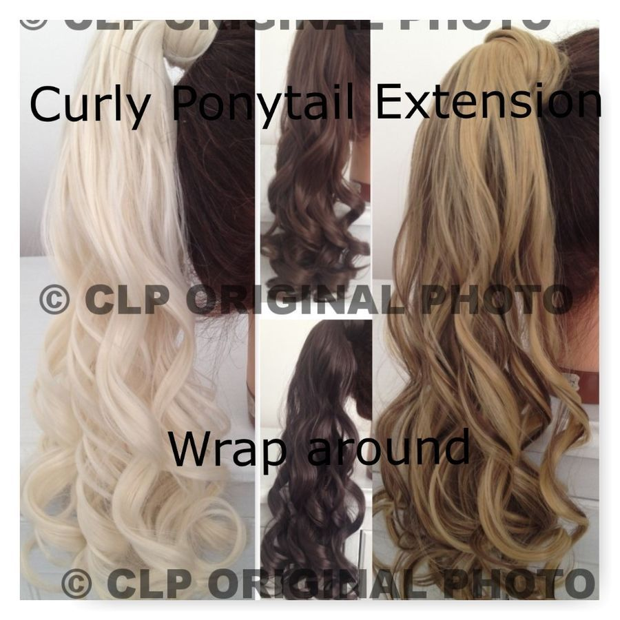 Details about UK SELLER Claw Clip Ponytail Hair Extension