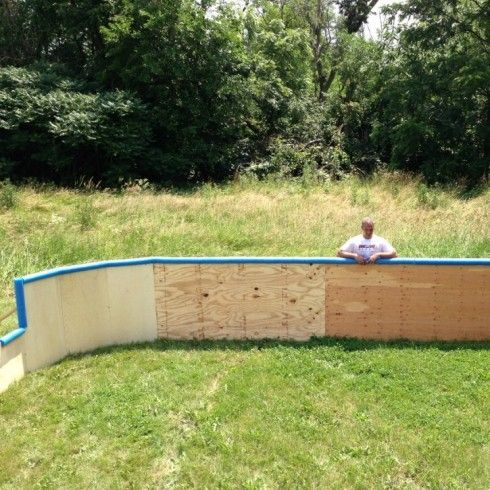 Build full height backboards on your backyard ice rink ...