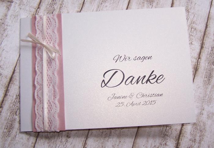 Dankeskarte Hochzeit Vintage Spitze Www Kartenmanufaktur Arndt De