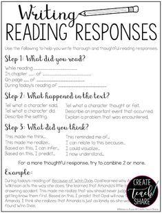 Upper Elementary Snapshots: Using Sentence Frames to Write Reading Responses