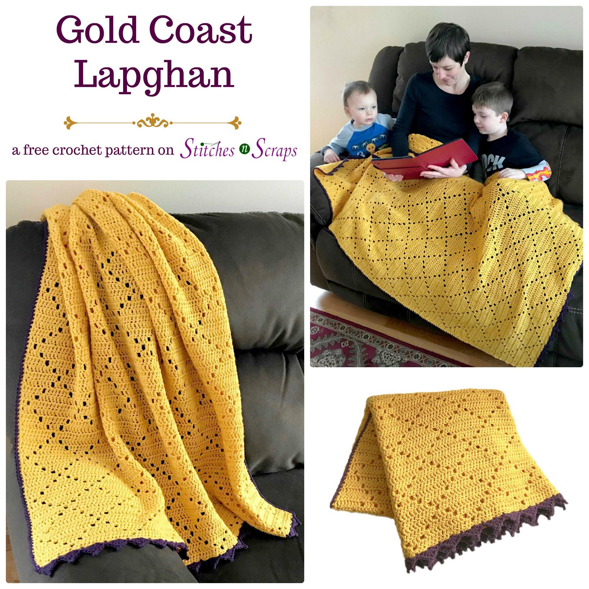 Free Pattern Gold Coast Lapghan Crochet Crochet Throw Pattern