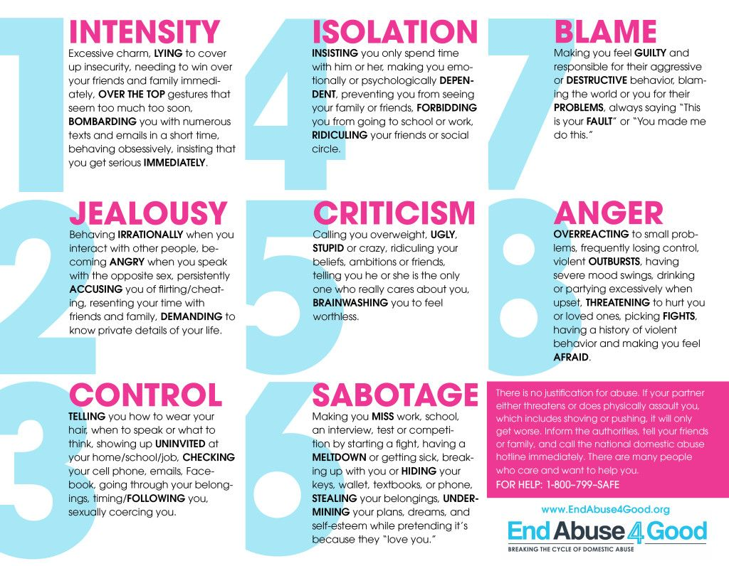 5 signs of dating abuse
