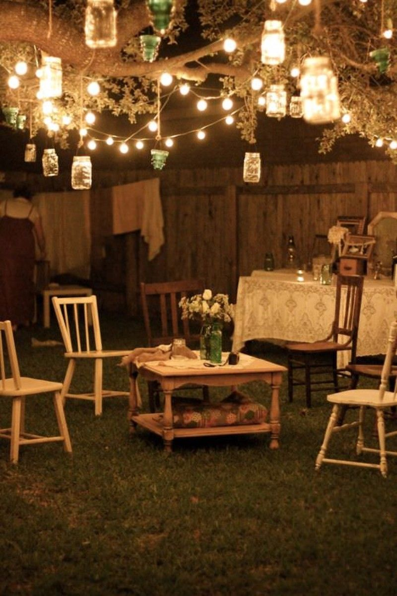 43 Gorgeous And Easy Diy Outdoor Lighting Ideas With Images Vintage Garden Decor Shabby Chic Garden Backyard Lighting