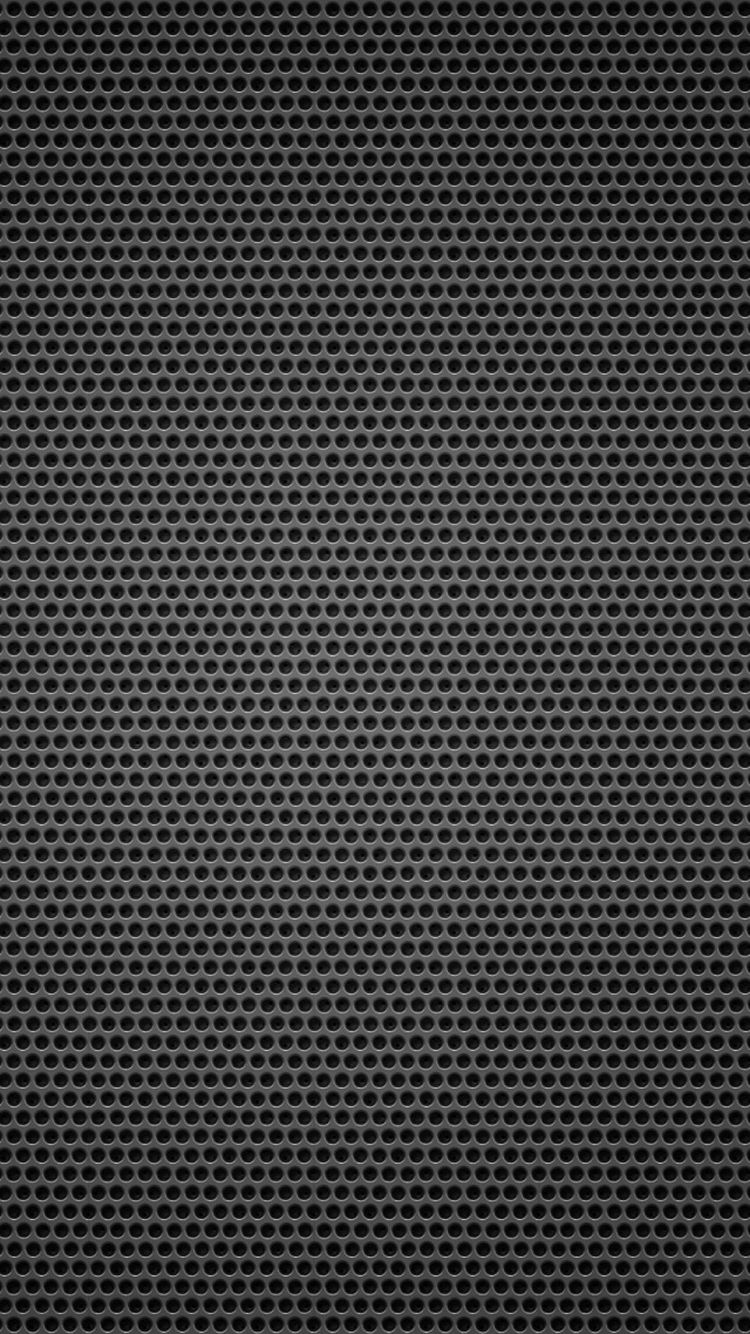Iphone 6s Carbon Fiber Wallpaper Black Background Metal Hole Small Iphone 6 Wallpaper