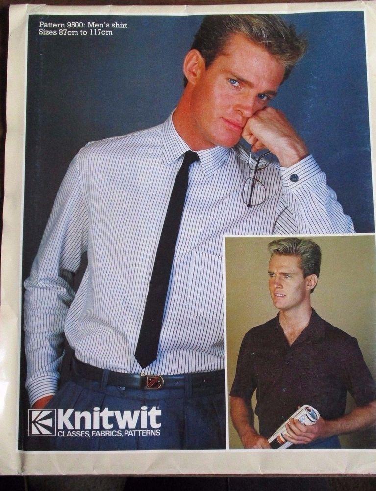 Knitwit pattern - 9500 men\'s shirt blouses sizes 87cm.-117cm. uncut