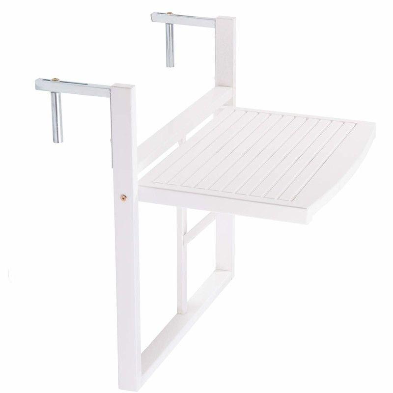 LODGE erkélyasztal, fehér Asztal, Összecsukható szék és