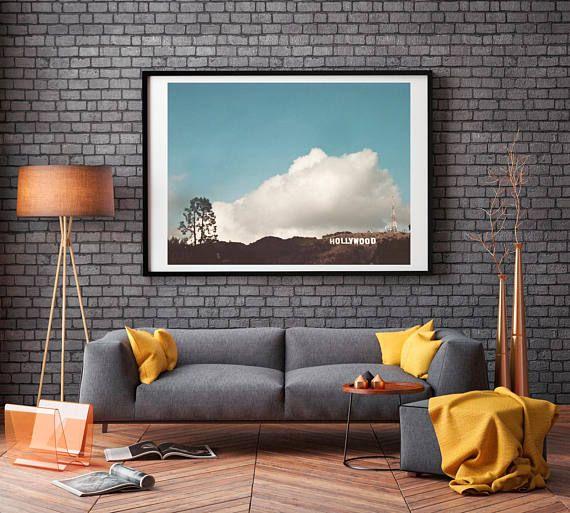 Photography Print, Hollywood sign, Large Wall Art Print, Canvas ...