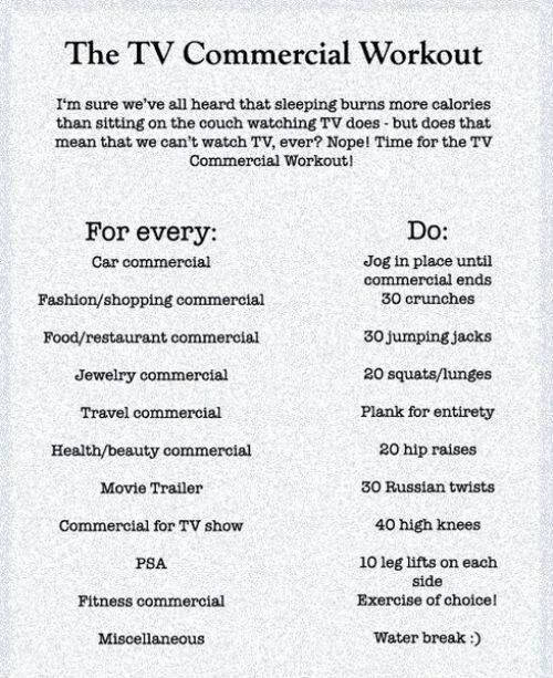 Tv commercial workout for those who can't make time  for a gym use this for your workout then