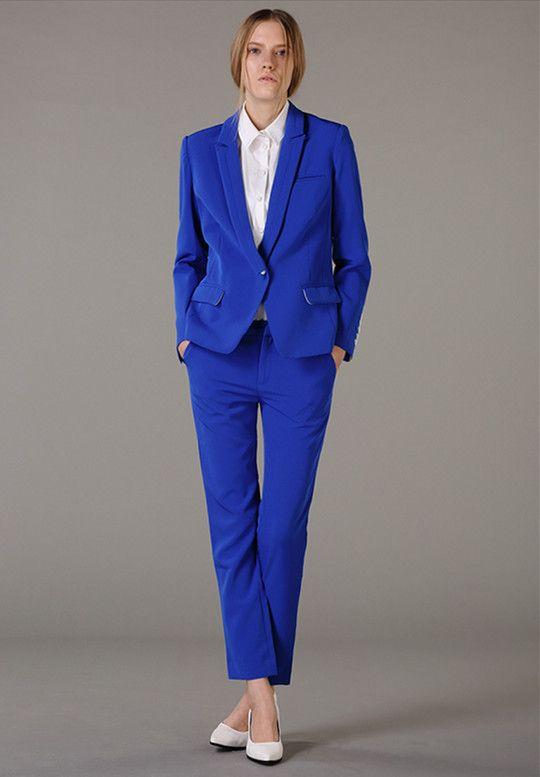 528d95ad84fc0 Image result for ladies royal blue pant suit | boule royal | Ladies ...